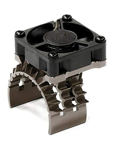Integy RC Model Hop-ups T8635GREY T2 Motor Heatsink w/Cooling Fan for Traxxas 1/10 Stampede 4X4 & Slash 4X4