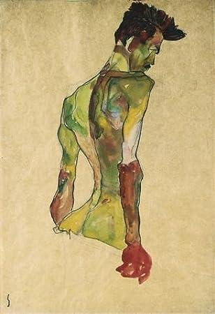 Amazon.com: Fine Art Wall Murals - Male Nude in Profile Facing Right ...