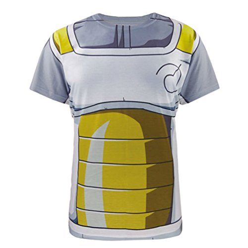 [3D T Shirt Vegeta Uniform Funny Party Cosplay Cartoon Costume Outfit Tops] (Party Rock Crew Costume)