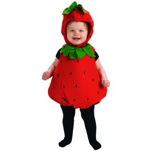 Rubie's Deluxe Baby Berry Cute Costume - Toddler (1- 2 - Strawberry Costume Halloween