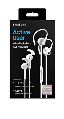 (Samsung Active User Bundle - Bluetooth + in-Ear Wired - White)