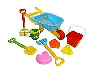 9-parte de la caja de arena juguetes Conjunto de arena coche juguetes para cavar playa accesiories verano B24