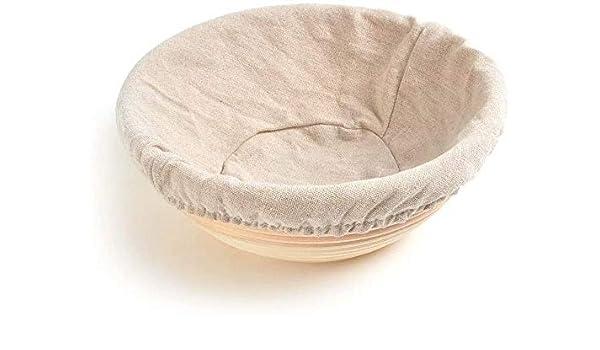 Gaocheng con tela de lino para prueba de masa fermentada Canastas para hornear Banneton Canasta de prueba Canasta de pan 13x6cm 13x6cm