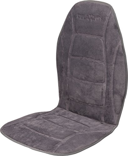 Relaxzen Deluxe Heated Car Seat Cushion with Built-In Thermostat and Auto Shut-Off, Gray