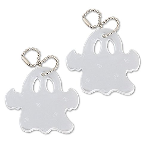 funflector Halloween Safety Reflector - Ghost - White - 2-Pack -