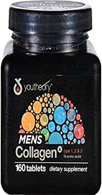 Youtheory, Collagen Mens Type 1 2 3, 160 Tablets