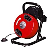 TruePower 50 feet Commercial Contractor Electric Drain Cleaner Drum Auger Snake (2'' to 4'' pipes) with Built-in GFCI and Accessories