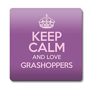 Morado KEEP CALM AND LOVE grashoppers posavasos color 2002