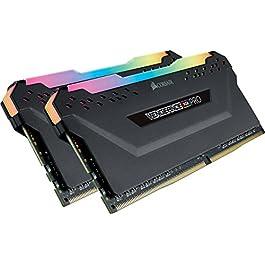 Corsair Vengeance RGB PRO 16GB (2x8GB) DDR4 3200MHz C16 LED Desktop Memory – Black (CMW16GX4M2C3200C16)