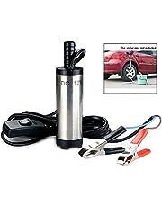 iPobie 12V 38mm Stainless Steel Submersible Pump Water Oil Diesel Fuel Transfer Pump for Car Oil Liquid Diesel Fuel Water Pump