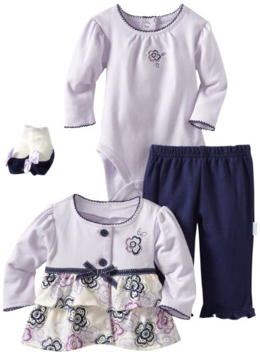 Vitamins Baby-Baby-Girls Newborn 4 Piece Creeper Pant Set