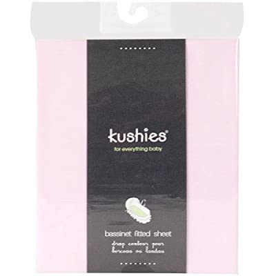 Kushies Percale Fitted Bassinet Sheet, Blue