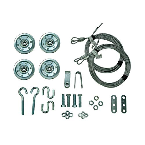 OlimP-Shop Garage Door Extension Spring Pulley Sheave Kit +Safety Cables & Instructions