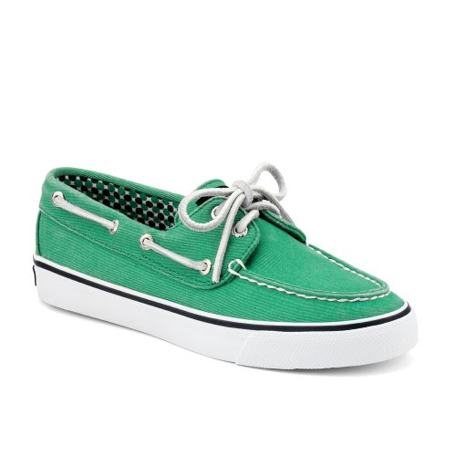 Sperry Top-sider Donna Bahama 2-eye Scarpe Da Barca Tela Verde