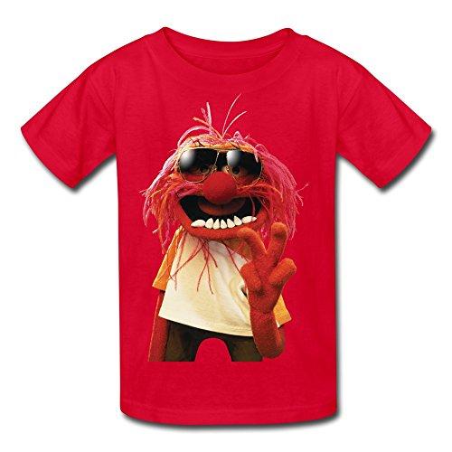 Youth Boys'/Girls' Love Muppets Jumbo Animal Cartoon Logo T-Shirt - Red