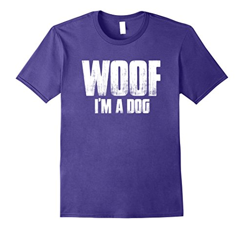 Mens Woof I'm A Dog T Shirt funny easy halloween costume gift Small (Funniest Easy Halloween Costumes)