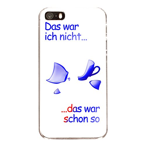 "Disagu Design Case Coque pour Apple iPhone 5s Housse etui coque pochette ""Das war...-blau"""