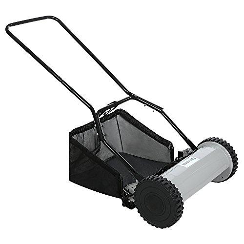 Asatr 12-Inch Reel Mower Walk Behind Push Reel Lawn Mower With U-Style Handle (US STOCK)