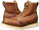 """Thorogood 814-4355 Men's American Heritage 6"""" Round Toe, MAXWear Wedge Non-Safety Toe Boot, Tobacco Oil-Tanned - 6.5 D(M) US"""