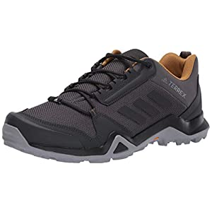 adidas Men's Terrex AX3 Hiking Shoes, Grey/Black/Mesa, 10.5