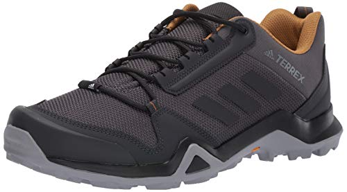 adidas outdoor Men's Terrex AX3 Hiking Boot, Grey Five/Black/Mesa, 10.5 M US