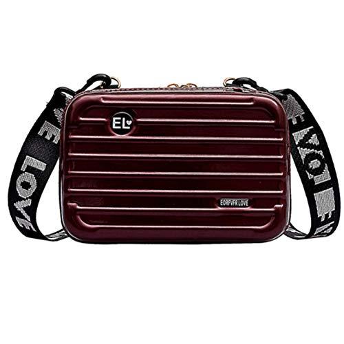 Mini Hard Suitcase Crossbody Han...
