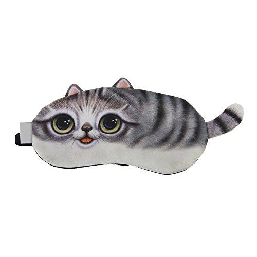 ACTLATI Cute Animal Sleeping Eye Mask Cartoon Animal Sleep Blindfold Cotton Soft Cooling Eyeshade for Travel Home Office Rest