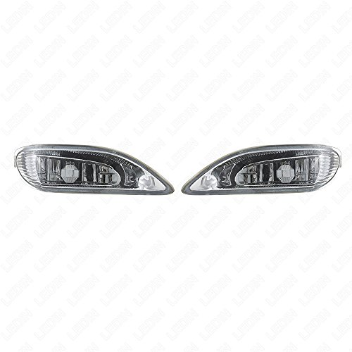 Solara 8 Light - LEDIN 81220AA011 OEM Replacement For Toyota 03-04 Camry 05-08 Corolla 02-03 Solara Clear Front Bumper Fog Driving Light Assembly w/Switch w/Bulbs
