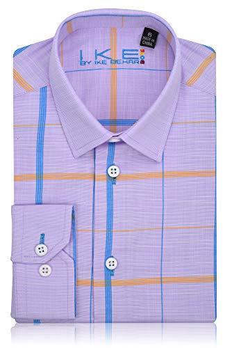 (Ike Behar Boys Fancy Shirt Lavendar,Blue,Orange)