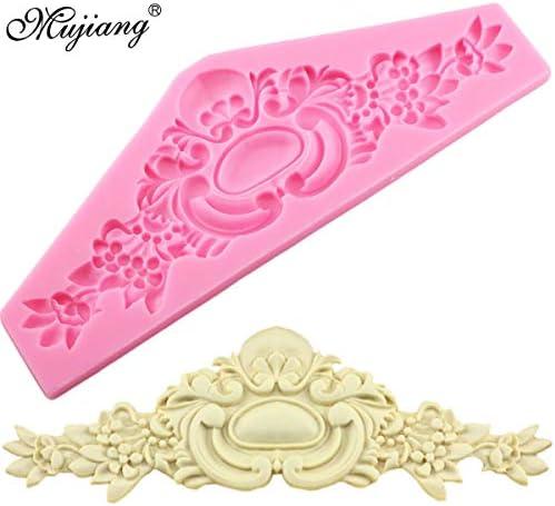 ヨーロッパの王冠救済シリコンモールドベーキング花レースのチョコレート金型フォン装飾ツールキャンディ粘土金型