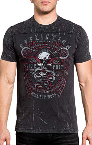 con hombre Affliction Camiseta Temple Viper gr de SfnWqg