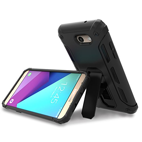 2017 Samsung Galaxy J7 Prime Case, OMOTON Hybrid Dual Layer Protective Case with [Versatile Kickstand] [Non-Slip Design] [Shock Proof] for Samsung Galaxy J7 Prime T-Mobile or MetroPCS [2017 Release]