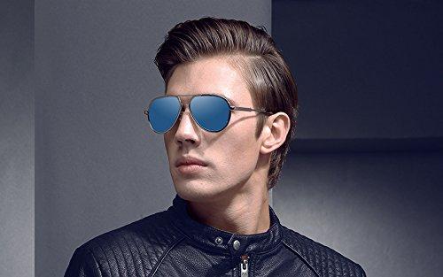 Soleil Sol Soleil Lunettes Polarized de Pilot Hommes Golden Designer XZP de Sunglass Retro oculos de Mirrored Lunettes Lunettes Marque TzwSS8Pxq