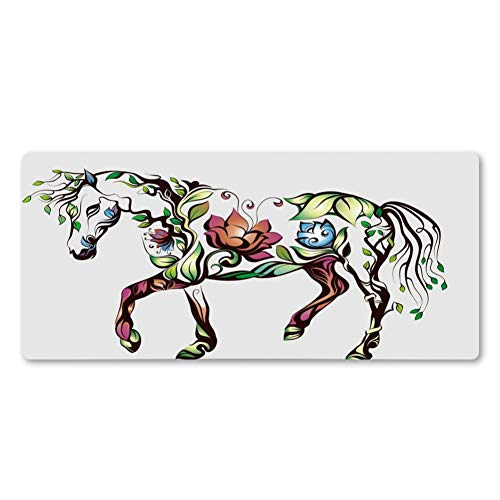 LXDMP Noble Magnificent Horse Mouse Pad Rubber Washable Pc Game Mousepad Computer Mouse Desk Mats Mouse Pad