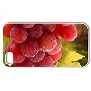 bunch grape leaves - Case Cover for iPhone 4 and 4s (Watercolor style, White)