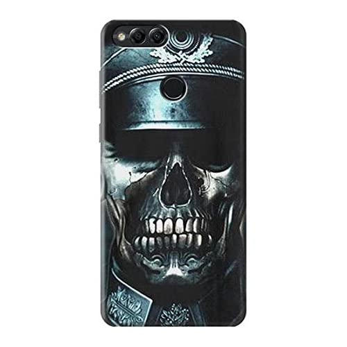 Innovedesire Skull Soldier Zombie Etui Coque Housse pour Huawei Honor 7X