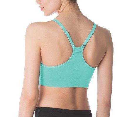 Fila de mujer camiseta de tirantes sin costuras sujetador Verde eléctrico