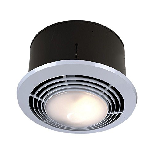 Broan Exhaust Fan, Heater, and Light Combo, Bathroom Ceiling Heater, 1500-Watts, 70 CFM