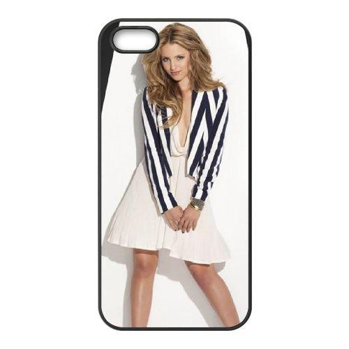 Dianna Agron coque iPhone 5 5S cellulaire cas coque de téléphone cas téléphone cellulaire noir couvercle EOKXLLNCD23230