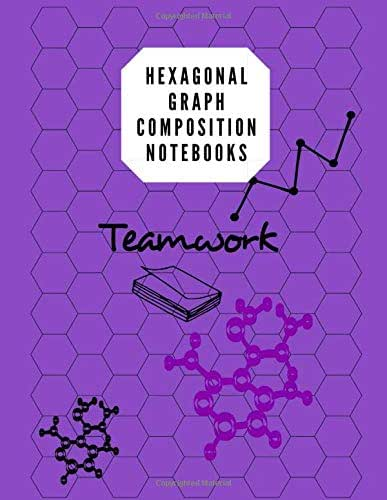 Hexagonal Graph Composition Notebooks: Biochemistry Note Book & Organic Chemistry 105 Pages, 8.5 X 11 Inches/ Notebook Purple