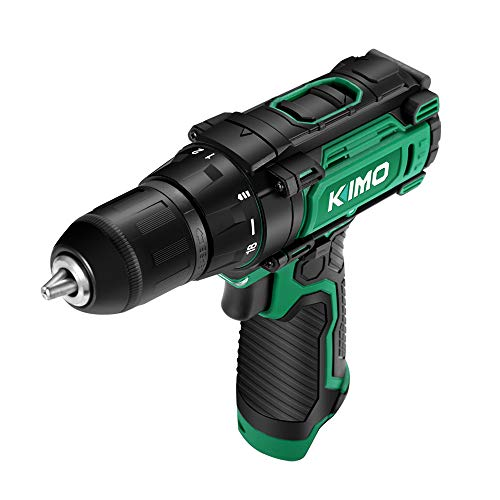 """KIMO 12V Cordless Drill/Driver (Bare Tool), 18+1 Clutch, 3/8"""", Keyless Chuck, Variable Speed, 280 In-lb Torque, Built-in LED"""
