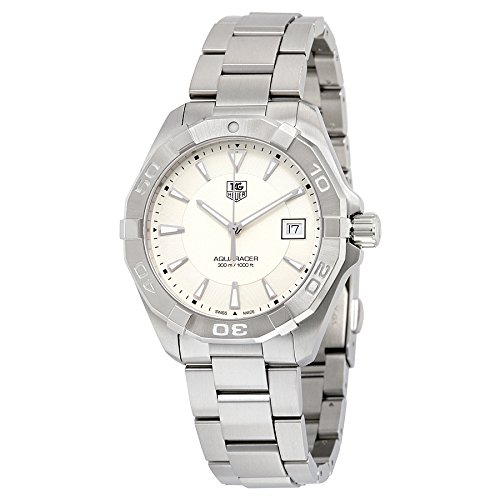 TAG Heuer Men's 'Aquaracer' Quartz Stainless Steel Dress Watch, Color:Silver-Toned (Model: WAY1111.BA0928)