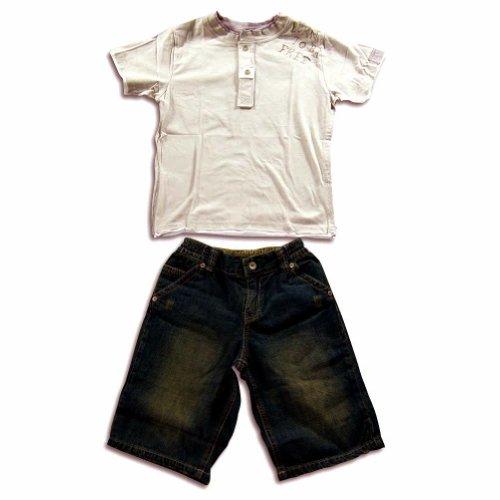 Mish - Baby Boys Short Sleeve Jean Short Set