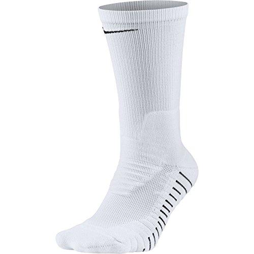(NIKE Unisex Vapor Crew Socks (1 Pair), White/Black, Large)