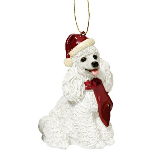 Design Toscano Christmas Ornaments - Xmas White Poodle Holiday Dog Ornaments