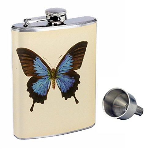 即納!最大半額! ビンテージバタフライPerfectionスタイル8オンスステンレススチールWhiskey Flask with Free with Flask Funnel Free d-003 B016XLK392, Accessoires Favori:33750d7a --- woxpedia.com