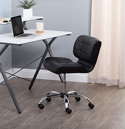 Modern Black Crest Office Chair, Black ()