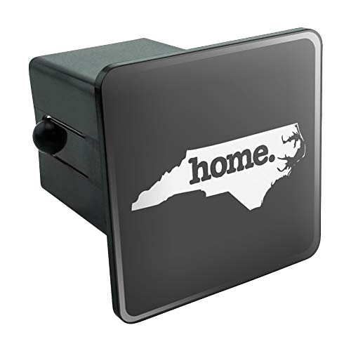 Graphics and More North Carolina NC Home State Solid Dark Gray Grey Officially Licensed Tow Trailer Hitch Cover Plug Insert 2