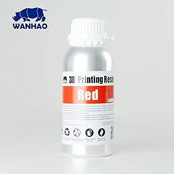 Wanhao - Resina para impresora 3D, color rojo: Amazon.es ...