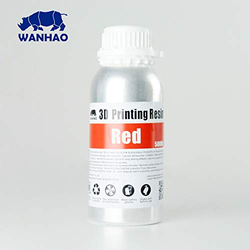 Wanhao - Resina para impresora 3D, color rojo: Amazon.es ...